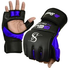 DAM MMA BOXING UFC FIGHT GRAPPLING AUTHENTIC LEATHER GLOVES GEL INTEGRATED NEW