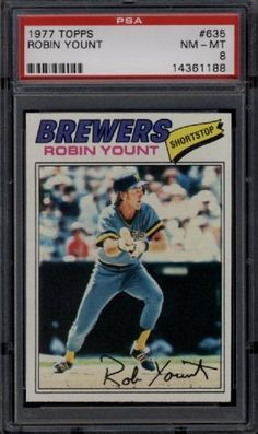 1977 Topps #635 Robin Yount Brewers PSA 8 NM-MInt by Topps. $16.00. 1977 Topps #635 Robin Yount Brewers PSA 8 NM-MInt