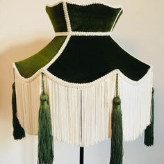 Browse Green Velvet Crown Lampshade With Cream Fringe & Green Tassels and more from Abigail Hardie Home at Wolf & Badger - the leading destination for independent designer fashion, jewellery and homewares. Childrens Curtains, 1960s Dresses, Princess Room, Antique Frames, Ceiling Pendant, Green Velvet, Vintage Children, Green And Grey, New Dress