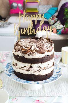 Layer cake de chocolate objetivo cupcake