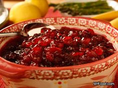 Baked Cranberry Sauce | mrfood.com - I've been making this for years. It's YUMMY and so easy! I increase it by 50% since bags of cranberries now have 3 cups instead of 4.