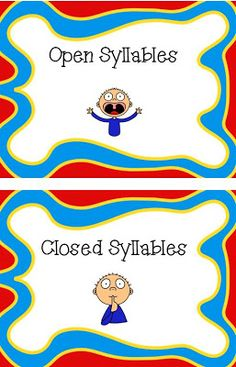 Open and closed syllables - should help with spelling. -Positively Learning: Behavior, Freebie, & Instagram!