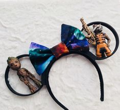 Guardians of the Galaxy - Rocket and Groot Mickey Ears Disney Ears Headband, Diy Disney Ears, Disney Headbands, Disney Mickey Ears, Cute Disney, Mickey Mouse, Disney Day, Disney Trips, Disney Stuff