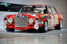 "Mercedes Benz 300 SEL 6.9 AMG ""the red pig"" from 1971"