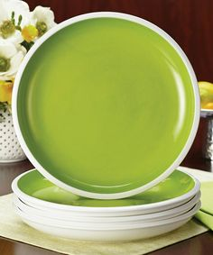 Love this Green Rise Dinner Plate - Set of Four on #zulily! #zulilyfinds