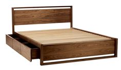 Matera Bed With Storage  Industrial, MidCentury  Modern, Wood, Bed by Design Within Reach