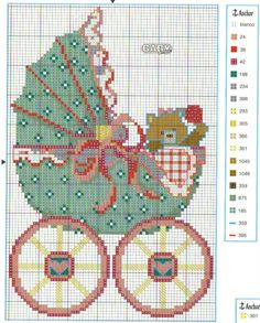 Cross-stitch Baby Carriage...  Gallery.ru / Chepi - Альбом Punto Cruz Bebe