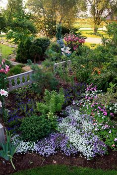 Colorful garden bed