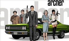 """© FXNetwork/Everett/Rex Features   """"Archer""""  dodge challenger master spy Sterling Archer chariot of choice"""