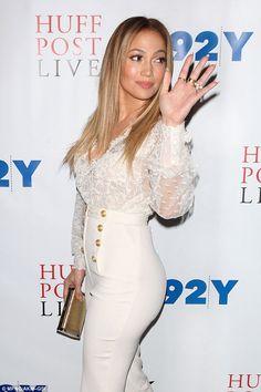 No hard feelings: Jennifer Lopez wished her ex-husband, Marc Anthony, well upon hearing ab...