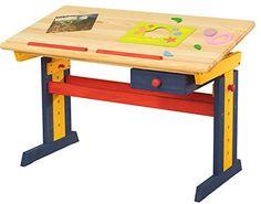 Kinderschreibtisch variabel Schreibtisch Kiefer Tisch Felix bunt