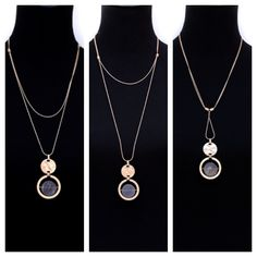 Check out our Multi functional necklace which you can wear at least 3 different ways, $34.00 Free US shipping www.jacketsociety.com