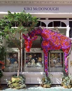 Retail Windows, Store Windows, Store Window Displays, Flower Boutique, Chelsea Flower Show, Window Design, Public Art, Christmas Wreaths, Floral Design