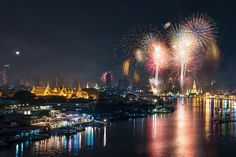 New Year Fireworks by Thanut S.