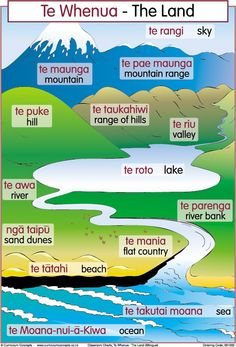 The Land Bilingual Chart | Te Reo Maori Resources