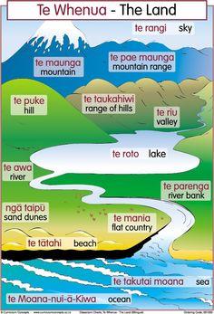 The Land Bilingual Chart | Te Reo Maori Resources