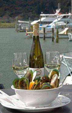 Marlborough, New Zealand - The home of Sauvignon Blanc and yummy mussels.