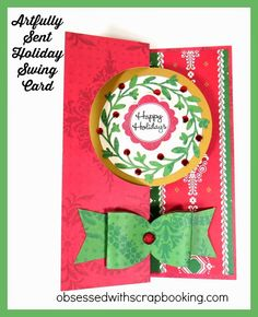 I just love the wreath swing card on the new Close to My Heart Artfully Sent Cricut Cartridge. It has so many possibilities!This wreath card is listed with the wedding themed items, but could be used with flowers, a birthday, Christmas, all kinds of things....The cut is both the card and the matchin