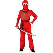 Disfraz Infantil Ninja Skull Rojo
