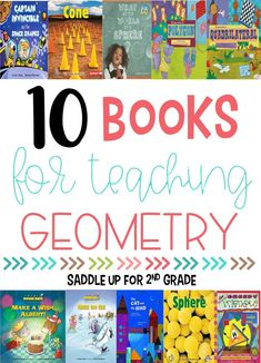 Teaching shapes and geometry in 1st and 2nd grade is simple with these great books! Check out this shapes book list to find a few of your new favorites! #teachingshapes #shapebooks