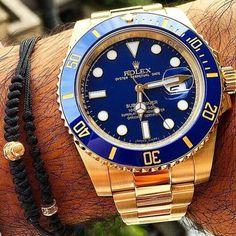 Gold Rolex Submariner. #rolex #submariner #watch