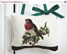 Christmas In July Sale Christmas Bird Door Hanger by PookieandJack, $5.60