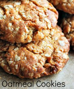 Oatmeal Cookies: 2 cups flour  2 teaspoons baking soda  2 cups oatmeal  3/4 teaspoon ginger  1/2 teaspoon cinnamon  1/2 teaspoon salt  1 cup honey  1/2 cup cooking oil  1 egg, beaten  1 tablespoon hot water  1 cup raisins  3/4  cup chopped nuts