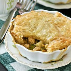 touch of the Irish Chicken Pot Pie with potatoes and leeks