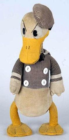 Walt Disney Donald Duck Pie-Eyed Cloth Doll.