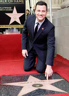 "Jimmy Kimmel — memorably ""kidnapped"" and ""hijacked"" by Matt Damon on the Jan. 24 episode of Jimmy Kimmel Live — got his own star on Hollywood's Walk of Fame Jan. 25."