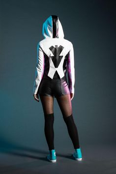 Cosplay Costume A Marvel fashion collection by Her Universe exclusively at Hot Topic inspired by the first ladies of comics // Women Of Marvel Her Universe Spider Gwen Jacket - Spider Girl, Spider Women, Spider Gwen Cosplay, Marvel Fashion, Sea Dress, Marvel Clothes, Costume Collection, Cosplay Girls, Costumes
