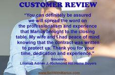 Customer Review of @MariusMitrofan  RE/MAX Realtron Realty Inc. Brokerage #RealEstateToronto
