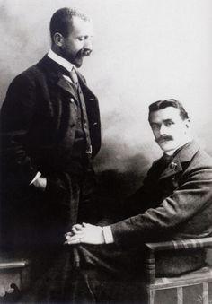 Heinrich and Thomas Mann, Munich, ca 1900, studio Elvira (Munich) http://chagalov.tumblr.com