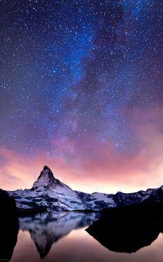 Matterhorn (German), Monte Cervino (Italian), Pennine Alps,Switzerland: