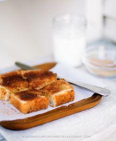 Cinnamon Toast by @Marta Greber of http://whatshouldieatforbreakfasttoday.com #breakfast #toast #cinnamon