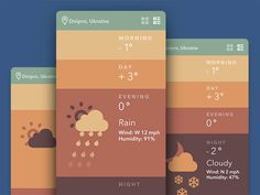 50 Gorgeous Examples Of Weather Mobile App UI for Inspiration | ネットコメディ