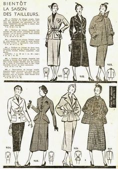 "what-i-found: ""Soon The Season of Tailors"" - French Style in 1950"