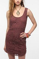 Staring At Stars Macrame Tank Dress - urban outfitters