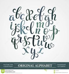 The Original Alphabet. Hand-made Lettering - Download From Over 54 Million High Quality Stock Photos, Images, Vectors. Sign up for FREE today. Image: 51286434