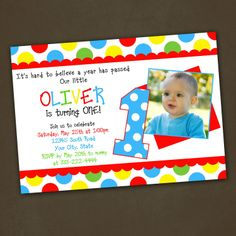 Polka Dots Primary Colors Birthday Party by PinkSkyPrintables, $12.00