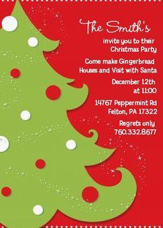 Christmas Tree - Christmas Invitations