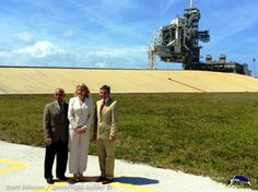 From left-to-right: NASA Administrator Charles Bolden, SpaceX COO and President Gwynne Shotwell and NASA Kennedy Space Center Director Rober...