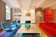 Bold Colors & Modern Lines Meld in a NYC Loft