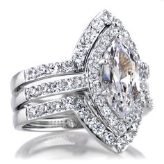 Wedding Ring Settings For Marquise Diamond
