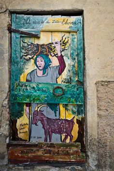 Valloria - Italy - province of Imperia, Liguria, the village with painted doors ....