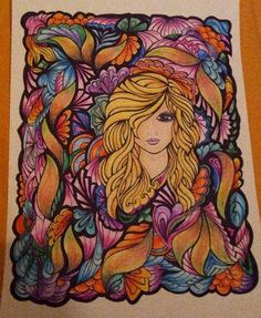 Fanciful Faces Coloring Book (Creative Haven) Creative Haven Coloring Books, Doodle Coloring, Dover Publications, Hippie Art, Flower Fashion, Prismacolor, Adult Coloring Pages, Art Journals, Beautiful Birds