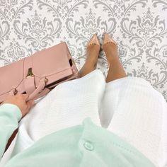 Mint + white + blush