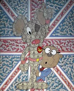"""""""Oooooh crumbs!"""" Danger Mouse and Penfold to the rescue in this incredible Pop Art original by the irrepressible Robin Coleman! http://wyecliffe.com/products/robin-coleman-penfold-dangermouse"""