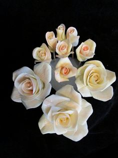 gumpaste+flowers++sugar+edible+tiny+tea+roses++by+sweetpeasugarart,+$25.00