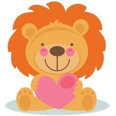 Cute Valentine Lion scrapbook cuts SVG cutting files doodle cut files for scrapbooking clip art clipart doodle cut files for cricut free svg cuts